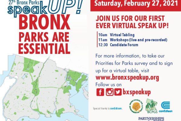 Last Day to Share Feedback on Bronx Parks for Annual Bronx Parks Speak Up