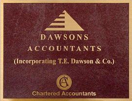 Chartered Accountants - Bronze Plaques