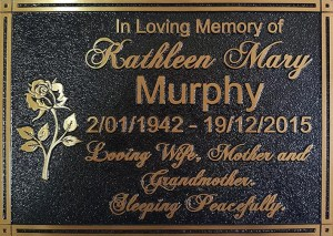 In loving memory Bronze plaque - Design Online