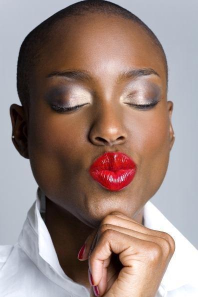 Bold Red Lips Bronze Magazine