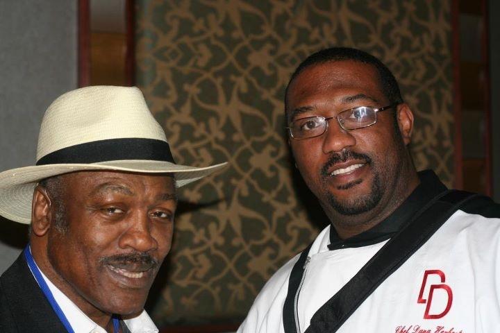Chef Dana with Smokin Joe Frazier