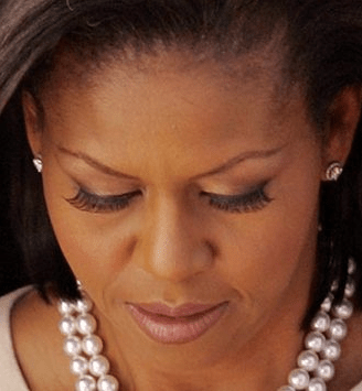 flase lashes on michelle obama (2)