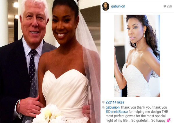 Gabrielle union weds dwyane wade bronze magazine gabrielle took to instagram and posted pictures of the relaxing weekend by saying happy got my luther playin theres a beingmaryjane marathon on bet junglespirit Images