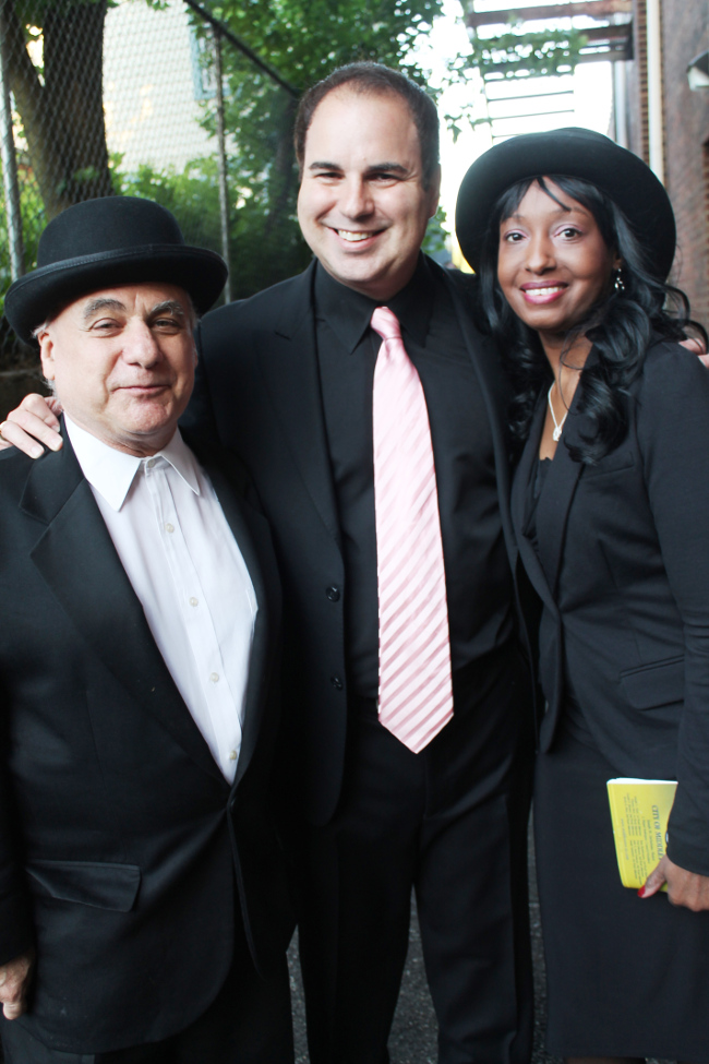 Movie producer, Acting coach Mark Stolzenberg(left), Ken DelVecchio(middle), and Karen Chrystal