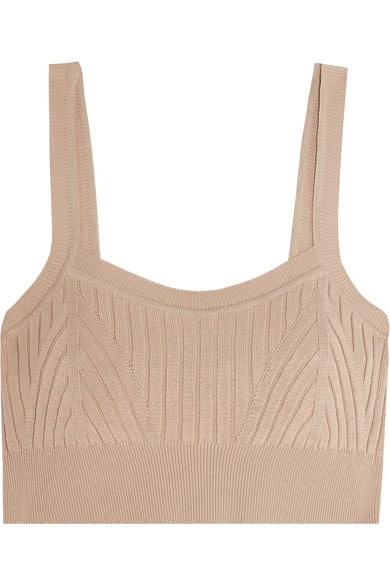 Jill Sander ribbed knit bra top