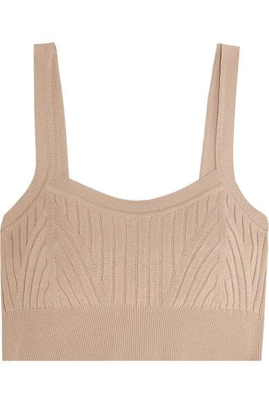 Jill Sander ribbed knit bra top