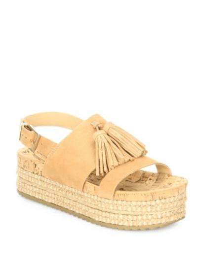 Saks Fifth Avenue- Schultz Monica Suede Platform Espadrille Sandals