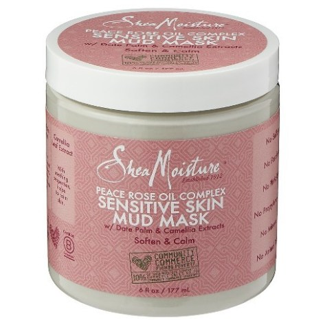 Shea Moisture Peace Rose Oil Sensitive Skin Mud Mask
