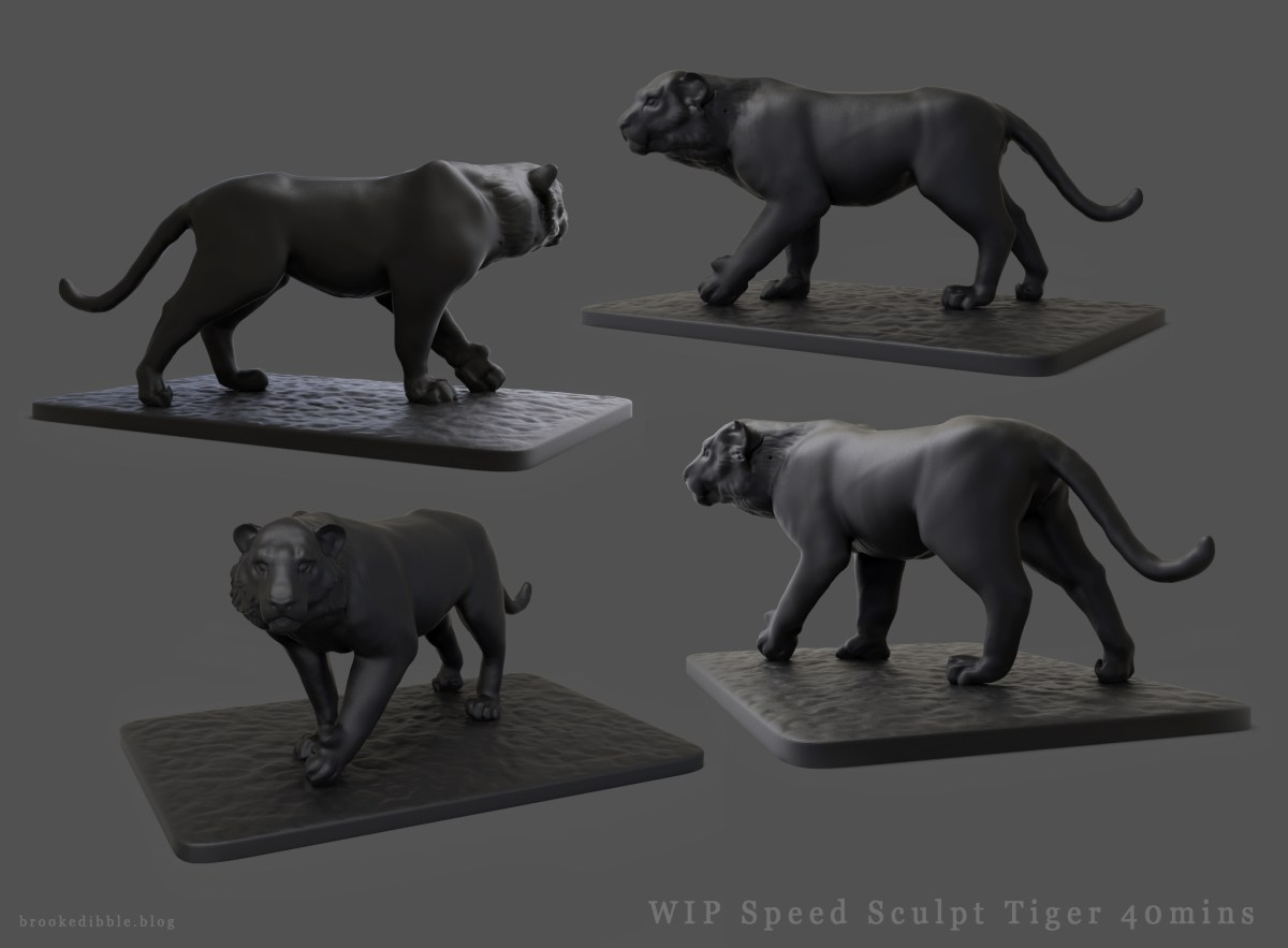 Tiger speed sculpt in ZBrush
