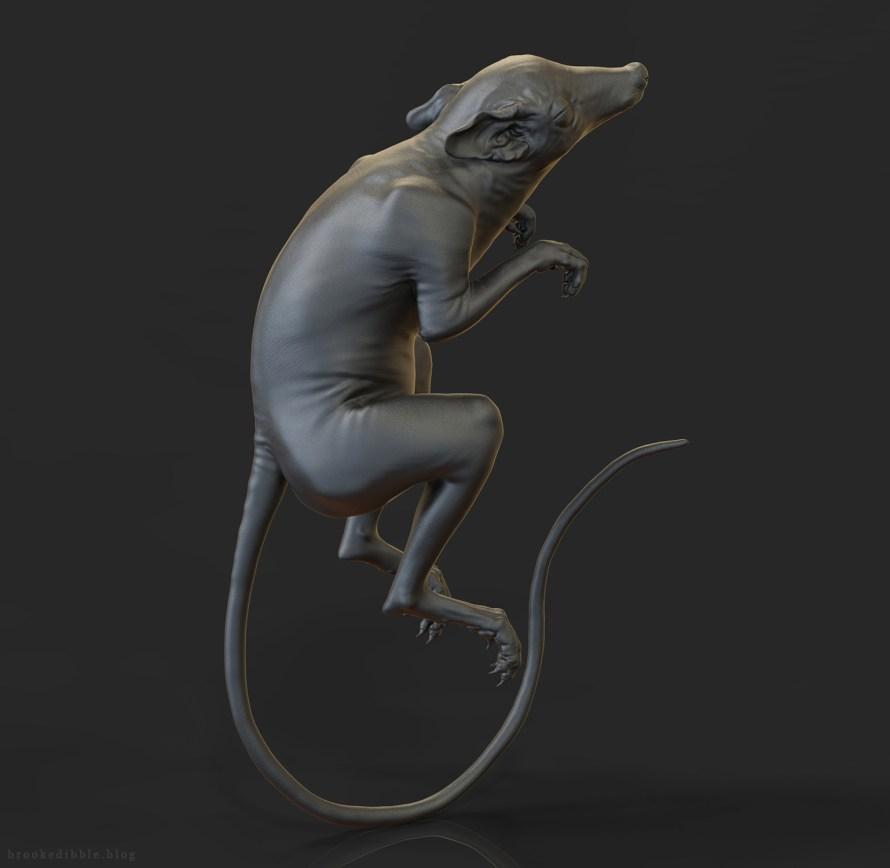 Purgatorius sculpt for dinosaur exhibition