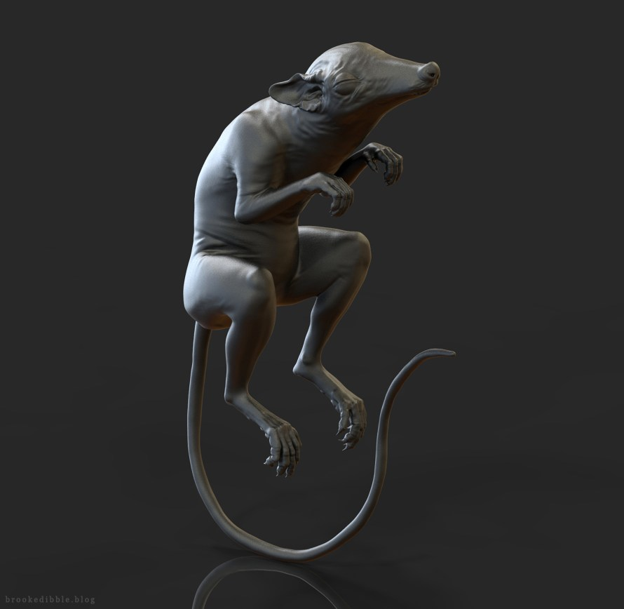 Purgatorius sculpt for dinosaur exhibition
