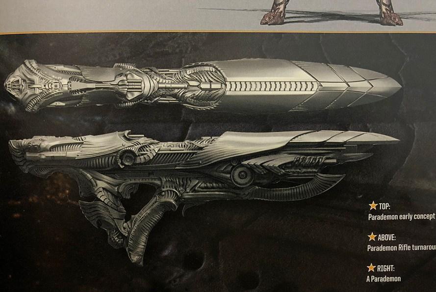 Parademon gun - Justice League - Art Of book image