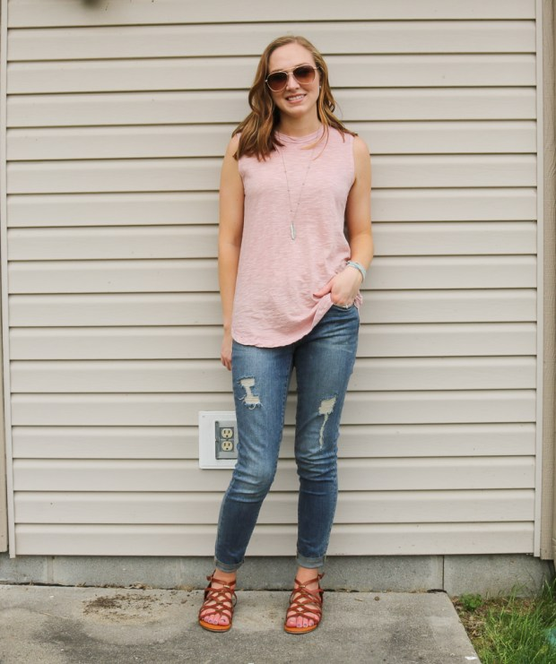 57251c3f29ce This next look is perfect for brunch with your girlfriends! I love the polka  dots on this top