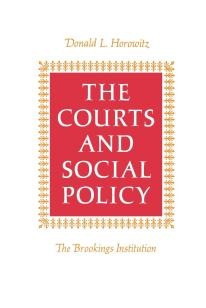 Cover: The Courts and Social Policy