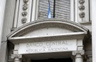 A view is seen of Argentina's Banco Central logo at its headquarters building in Buenos Aires October 16, 2013.