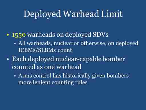 Deployed Warhead Limit