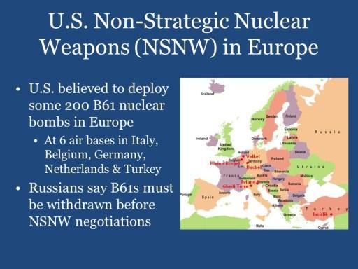 U.S. Non-Strategic Nuclear Weapons (NSNW) in Europe