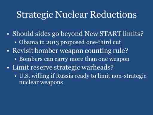 Strategic Nuclear Reductions