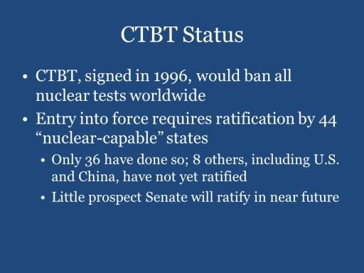 CTBT Status