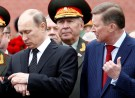 Russian President Vladimir Putin (L) and chief of President's staff Sergei Ivanov attend a ceremony marking the 72nd anniversary of the Nazi German invasion, at the Tomb of the Unknown Soldier by the Kremlin walls in Moscow, Russia, June 22, 2013. REUTERS/Sergei Karpukhin/File Photo TPX IMAGES OF THE DAY - RTSMVD9