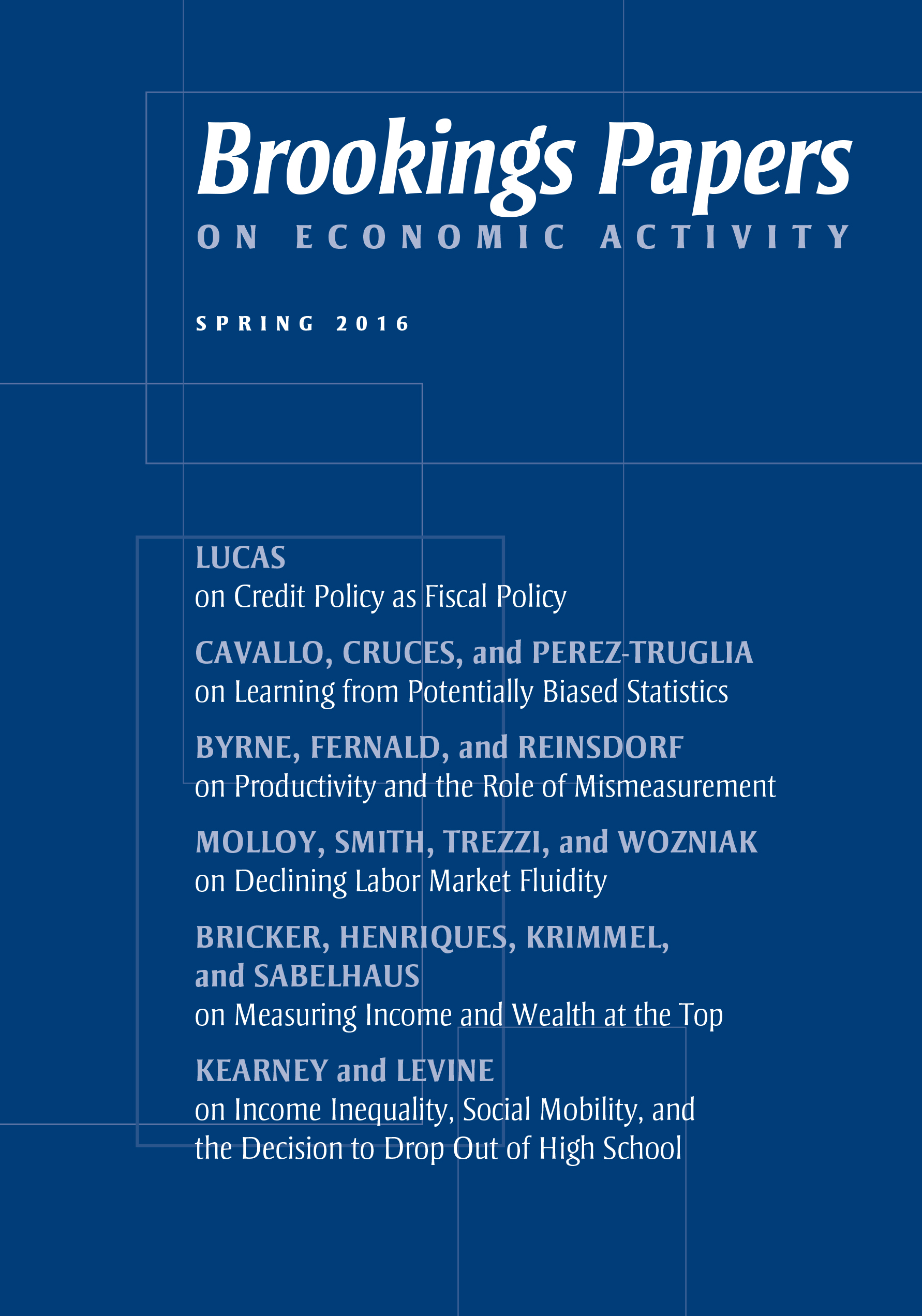 Brookings Papers On Economic Activity Spring