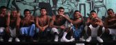 """Gang members who are also inmates pose for a photograph at a prison in Quezaltepeque, on the outskirts of San Salvador June 2, 2012. The relentless tit-for-tat murders between El Salvador's two largest street gangs - """"Calle 18"""" and """"Mara Salvatrucha"""" - made the country the most murderous in the world last year after neighboring Honduras, also ravaged by gang violence. That was until Garcia, from the Calle 18 (""""18th Street"""") gang, along with elders from the Mara Salvatruchadeclared an unprecedented truce that authorities say has cut the homicide rate in half in just four months. Picture taken June 2, 2012. To match Feature SALVADOR-GANGS/ REUTERS/Ulises Rodriguez (EL SALVADOR - Tags: CRIME LAW CIVIL UNREST) - RTR34YC6"""