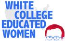 Still image taken from the video highlighting white college educated women.