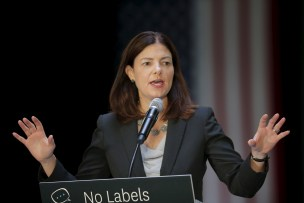 U.S. Senator Kelly Ayotte (R-NH) speaks at the No Labels Problem Solver Convention in Manchester, New Hampshire October 12, 2015. REUTERS/Brian Snyder - RTS43YN