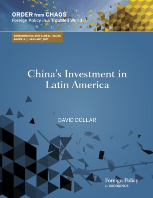 "Cover of ""China's investment in Latin America"" by David Dollar"