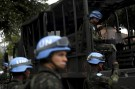 Brazilian soldiers of the United Nations Peacekeeping Forces attend a training exercise in Rio de Janeiro April 22, 2015, before departing to Haiti. REUTERS/Pilar Olivares - RTX19U2E