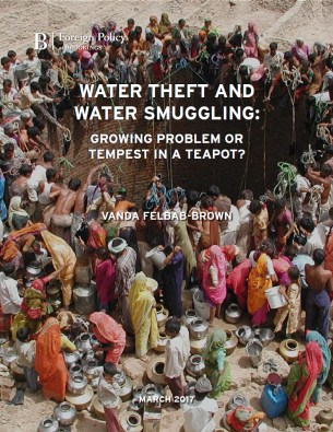 """Water Theft and Water Smuggling: Growing Problem or Tempest in a Teapot?"" by Vanda Felbab-Brown (cover)"