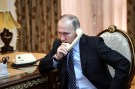 Russia's President Vladimir Putin speaks by phone, February 28, 2017. Sputnik/Alexei Nikolsky/Kremlin via REUTERS ATTENTION EDITORS - THIS IMAGE WAS PROVIDED BY A THIRD PARTY. EDITORIAL USE ONLY. THIS IMAGE HAS BEEN SUPPLIED BY A THIRD PARTY. IT IS DISTRIBUTED, EXACTLY AS RECEIVED BY REUTERS, AS A SERVICE TO CLIENTS - RTS10QE5