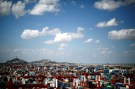 FILE PHOTO: A container area is seen at the Yangshan Deep Water Port, part of the newly announced Shanghai Free Trade Zone, south of Shanghai September 26, 2013.  REUTERS/Carlos Barria/File Photo - RTS11VY3
