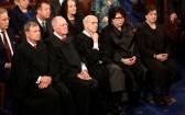 U.S. President Trump Addresses Joint Session of Congress - Washington, U.S. - 28/02/17 - U.S. Supreme Court Justices listen as U.S. President Donald Trump addresses Congress. REUTERS/Kevin Lamarque - RTS10VGT