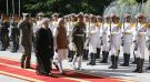 Iran's President Hassan Rouhani (L) and India's Prime Minister Narendra Modi review the honor guard during an official welcoming ceremony in Tehran, Iran May 23, 2016. President.ir/Handout via REUTERS FOR EDITORIAL USE ONLY. NO RESALES. NO ARCHIVES. ATTENTION EDITORS - THIS PICTURE WAS PROVIDED BY A THIRD PARTY. - RTSFHK9