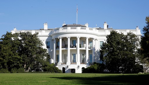 The White House is seen on election day in Washington