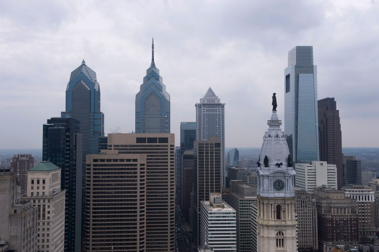 A view of the downtown skyline in Philadelphia