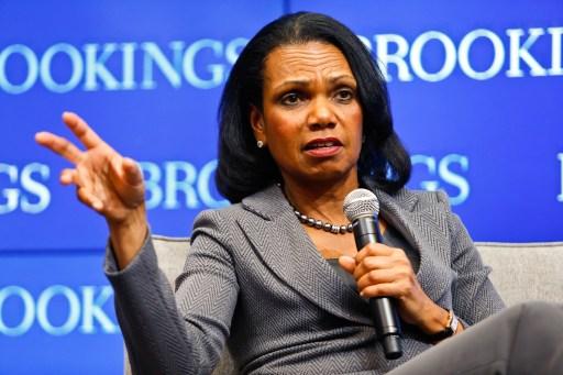 Dr. Condoleezza Rice, former US secretary of state,