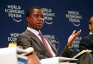 Zambian President Edgar Lungu participates in a discussion at the World Economic Forum on Africa 2017 meeting in Durban, South Africa May 4, 2017. REUTERS/Rogan Ward - RTS154CJ
