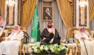 Saudi Arabia's Crown Prince Mohammed bin Salman sits during an allegiance pledging ceremony in Mecca, Saudi Arabia