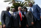 Kenya's President Uhuru Kenyatta, Guinea's President Alpha Conde, U.S. President Donald Trump, African Development Bank President Akinwumi Adesina, Nigeria's Vice-President Yemi Osinbajo and Ethiopia's Prime Minister Hailemariam Desalegn pose following a family photo of the G7 Summit expanded session in Taormina, Sicily, Italy May 27, 2017