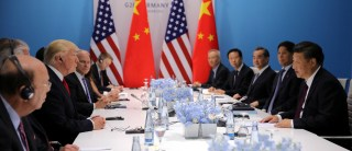 U.S. President Donald Trump and Chinese President Xi Jinping attend the bilateral meeting at the G20 leaders summit