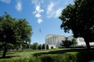 The building of the U.S. Supreme Court is seen after it granted parts of the Trump administration's emergency request to put his travel ban into effect immediately while the legal battle continues, in Washington