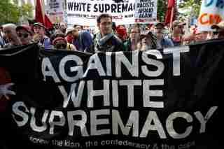 Protesters against white supremacy in Charlottesville, VA