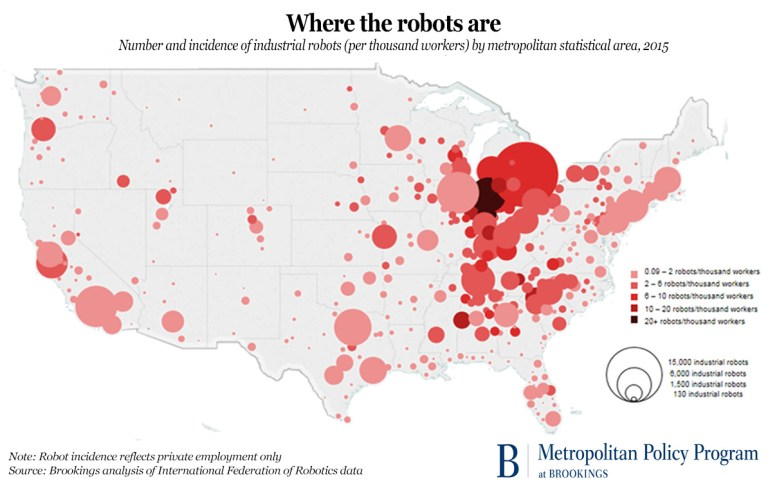 Map: Where the robots are