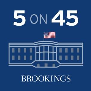 Logo for 5 on 45 podcast