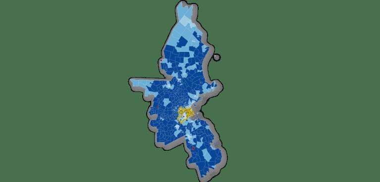 Map: broadband subscription in Boston