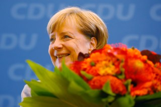 Christian Democratic Union CDU party leader and German Chancellor Angela Merkel arrives for a news conference at the CDU party headquarters, the day after the general election (Bundestagswahl) in Berlin, Germany September 25, 2017.   REUTERS/Kai Pfaffenbach - RC1C6D427BF0