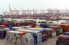 Shipping containers are seen at Nansha terminal of Guangzhou port, in Guangdong province, China June 14, 2017. Picture taken June 14, 2017. REUTERS/Stringer ATTENTION EDITORS - THIS IMAGE WAS PROVIDED BY A THIRD PARTY. CHINA OUT. NO COMMERCIAL OR EDITORIAL SALES IN CHINA. - RC1D40E1D4E0