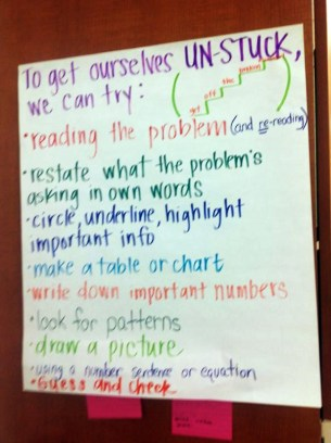 A list of strategies co-authored with students across a year.